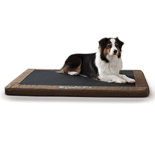 K&H Pet Products Comfy N' Dry Indoor/Outdoor Pet Bed Large Chocolate 36
