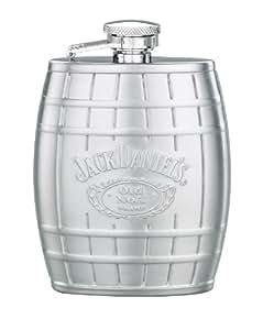 Jack Daniel's Licensed Barware Barrel Flask, Embossed, 4-Ounce