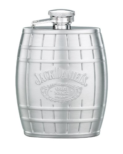 Jack Daniel's Licensed Barware Barrel Flask, Embossed, 4-Ounce