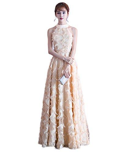 底おそらくデコラティブロングドレス演奏会 イブニングドレス結婚式 パーティードレス 二次会 披露宴 成人式 ワンピース  フォーマルドレス シャンパン