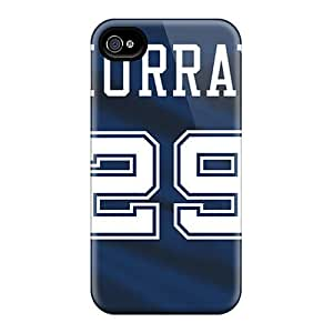 Hot Yqq10169BwRf Dallas Cowboys Tpu Cases Covers Compatible With Iphone 4/4s