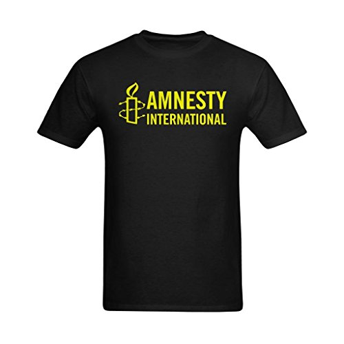 NeloimageMale Amnesty International Logo Image Design Size XL T Shirt