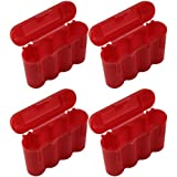 AA AAA CR123A Red Battery Holder Storage Case 4 Cases