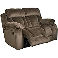 Ashley Stricklin Power Reclining Loveseat in Chocolate