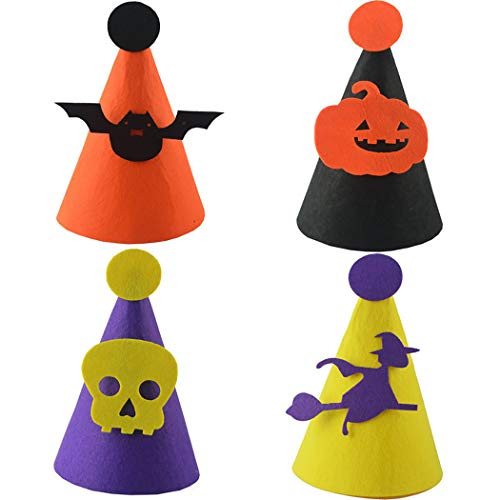 Kapmore Kids Halloween Hat, 4PCS Decorative DIY Halloween Cap Costume Hat Party -