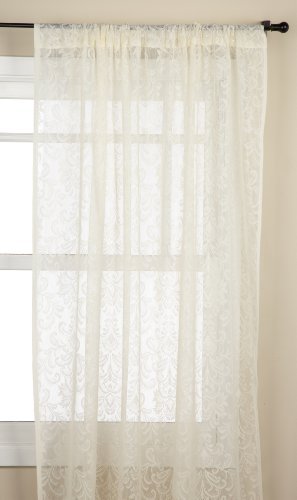 Stylemaster Mia 56 by 84-Inch Decorative Lace Panel, Beige - 100-Percent polyester lace fabric Easy care machine wash and dry Imported - living-room-soft-furnishings, living-room, draperies-curtains-shades - 41ih79eA2yL -