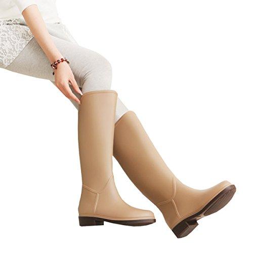 HOFFNUNG Männer Frauen Regen Stiefel Wasser Schuhe Wasserdicht Anti-Schlamm Vier Jahreszeiten Anti-Rutsch Mode Weich,B-d C