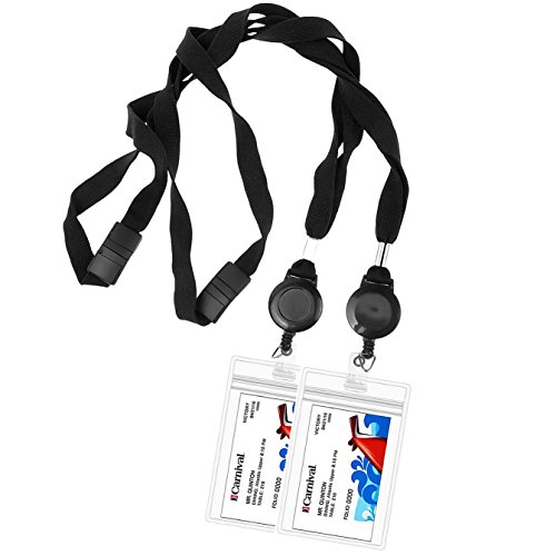 Cruise Lanyard - Key Card Holder - Retractable Reel - Detachable - Waterproof ID Holder- Cruise Ship Accessories Must Have - Ship Key Holder