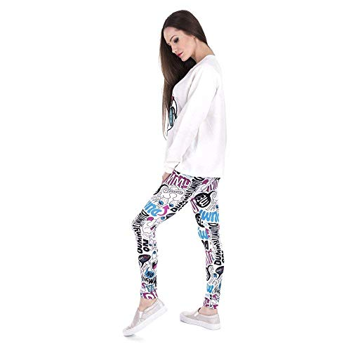 Lannister Fashion Impresión Doodle Pantalones De Leggins Mujer Legging Estrenar Cintura A Fitness Colour Moda Alta Leggings Yoga Maniquí rrqfxC