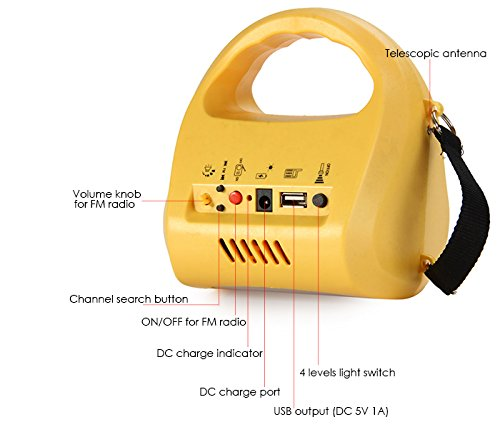 New N710 Multi-use (yellow) LED Outdoor Solar Lantern Light Solar Lamp Rechargeable FM USB Power Bank for Camping Hiking EU Plug Solar Outdoor Pathway (yellow) 141[並行輸入] B01MU09Y03, ubazakura:72be36da --- ijpba.info