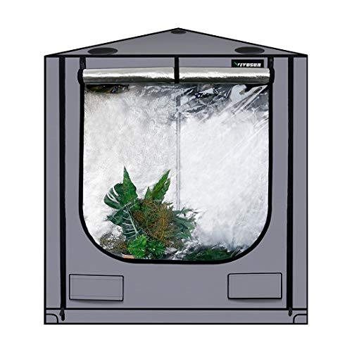 $102.99 indoor grow tent cheap VIVOSUN Triangle Grow Tent with Bigger View Window for Indoor Plant Growing 40.5″x57″x59″ 2019