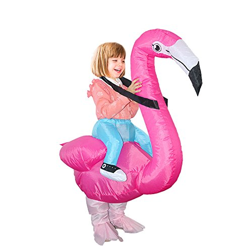 cheerfullus Flamingo Cosplay Suit,Flamingo Inflatable Suit Spoofing Costume Props for Halloween Christmas Fancy Dress Party Costume Kids