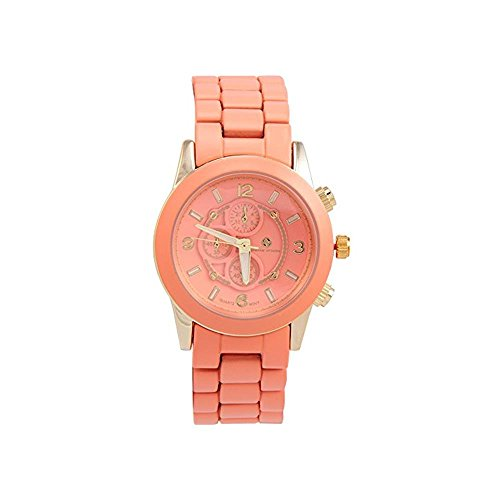 Adrienne Vittadini Ladies Watch ADS9128G228-899 Coral Dial Stainl. Steel Quartz Movement