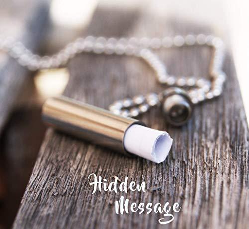 Boyfriend Gift Secret Hidden Message Necklace Personalized Jewelry for Men Guys Long Distance Relationship Keepsake (Best Message For Long Distance Relationship)