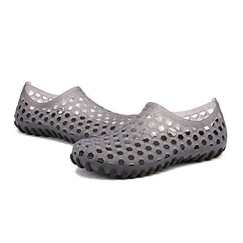 el para Libre los Antideslizantes Zapatos de Hombres Agua Zapatos Color Caminar de Transparent Aire Huecos Sandalias Cómodos en al Vamp qwwCxa5