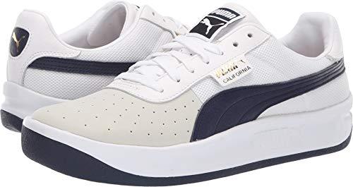 - PUMA Men's California Casual Puma White/Peacoat/Puma White 9.5 D US D (M)