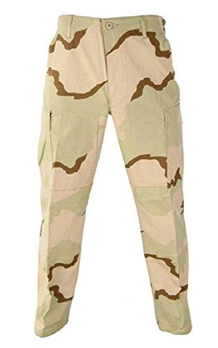 Bellawjace Clothing Tri-Color Desert Camo 6-Pocket Military Poly/Cotton BDU Cargo Fatigue Pants