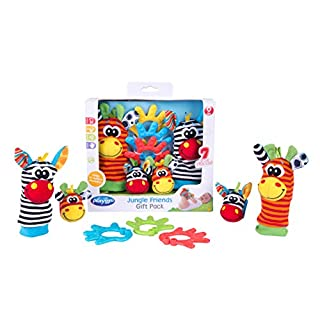 Playgro Baby Toy Jungle Friends Gift Pack 0182436107 for baby infant toddler children is Encouraging Imagination with STEM/STEAM for a bright future - Great Start for A World of Learning
