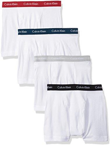 Calvin Klein Men's Cotton Classics Multipack Boxer Briefs, White/Empower/Fountain/Silver Nickel/Black, Medium