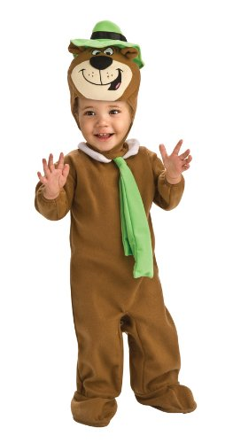 [Yogi Bear Ez-On Romper Costume, Brown, Newborn] (Yogi Bear Halloween Costume)