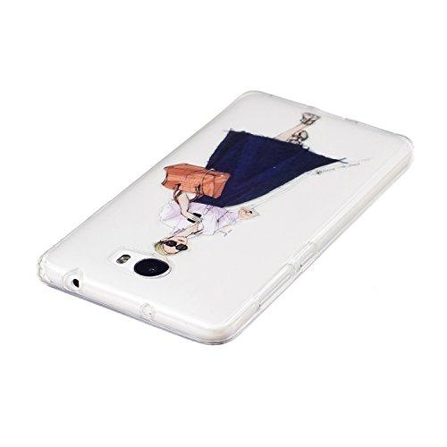 Funda Huawei Y5 II,SainCat Moda Alta Calidad suave de Ultra Delgado de TPU Silicona Transparente Funda Carcasa Caso Parachoques Diseño pintado Patrón para Carcasas TPU Silicona Ultra Delgado Ligero Go Chica de gafas de sol