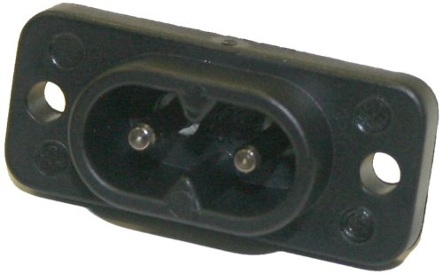 Interpower 83011510 IEC 60320 C8 Shrouded Power Inlet, IEC 60320 C8 Socket Type, Black, 2.5A Rating, 250VAC Rating