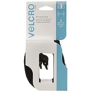 """VELCRO Brand - All Purpose Straps - 36"""" x 2"""" All Purpose Strap, 2 Ct. - Black"""