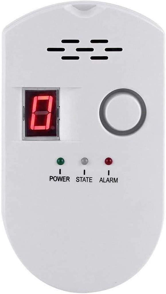 Natural Gas Detector, Gas Leak Detector, Household Propane Leak Detector for Home Kitchen (White)