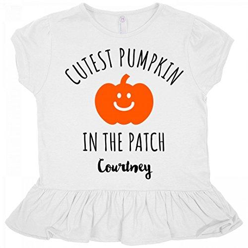Halloween Cutest Pumpkin Courtney: Toddler Rabbit Skins Ruffle Fine Jersey (Courtney Halloween)