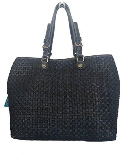 Inmodm Gabs M Pelle Shopping Blu Andylux