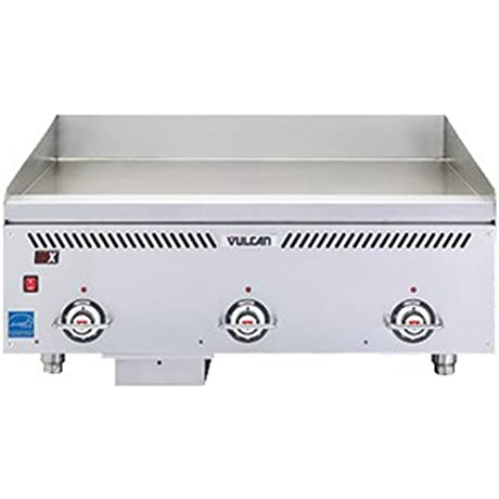 Vulcan VCCG24 IS 24 Heavy Duty Countertop Gas Griddle 24 W X 24 D Cooking Surface 48 000 BTU