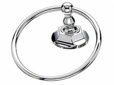 Top Knob Edwardian Bath Ring - ED5PCB - Polished Chrome - Hex Back Plate