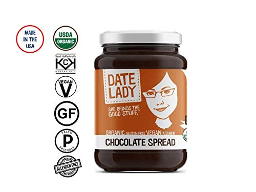 Date Lady Chocolate Spread | NO HFCS, ORGANIC, VEGAN, GLUTEN-FREE & KOSHER | For Toast, Pancakes, Fruit (Chocolate Spread, 1-pack)