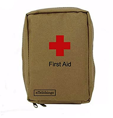 Tactical First Aid Kit: FIRST AID KIT FULLY STOCKED SMALL MEDICAL EMT DISASTER EMERGENCY IFAK MED KITS PORTABLE FOR HOME SHELTER TRAVEL BACKPACK CAMPING HIKING VEHICLES GREAT FOR SPORTS EDC BUGOUT GO 72 hour BAGS from nTelithings