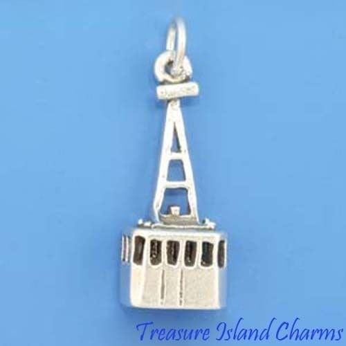 Aerial SKI Lift Tram Cable CAR Tramway 3D .925 Sterling Silver Charm New Ideal Gifts, Pendant, Charms, DIY Crafting, Gift Set from Heart by Wholesale Charms
