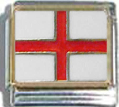 Stylysh Charms England English UK Flag Ceramic Italian 9mm Link PQ014