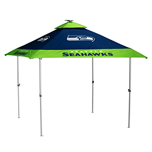 Logo Brands NFL Seattle Seahawks Pagoda Tent Pagoda Tent, Navy, One Size