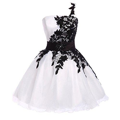 amp;S vestido fiesta Cena de visten Falda Wed mujeres White MEI nbsp;Las hombro novia parte solo PfOwPd