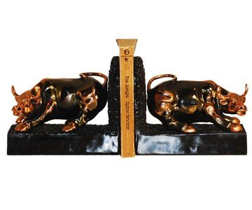 (Wall Street Bull Bookends)