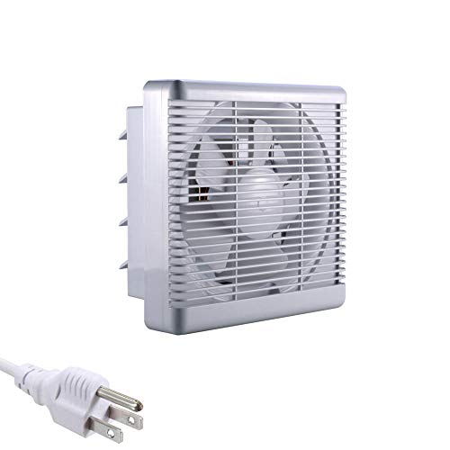 "8"" INCH 110 Volt Wall-Mounted Variable Speed Shutter Ventilation Fan Grill Reverse Air Exhaust Fan 300CFM"