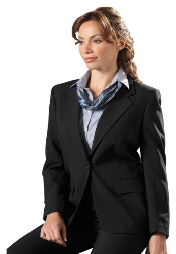 Lin Single Breasted Blazer - Edwards Women'S 6680 One Button Single Breasted Suit Coat (Charcoal 28-R)