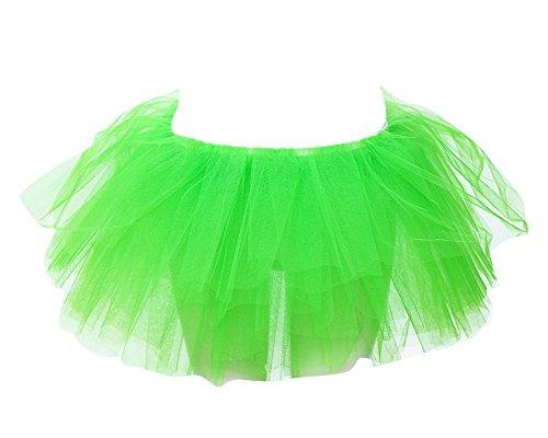 Tulle Bouffe Ballerine Fluorescence Ballet Femme Taille Danse Jupe Tutu Jupe Mini SaiDeng Vert Pliss Unique zqtwv1