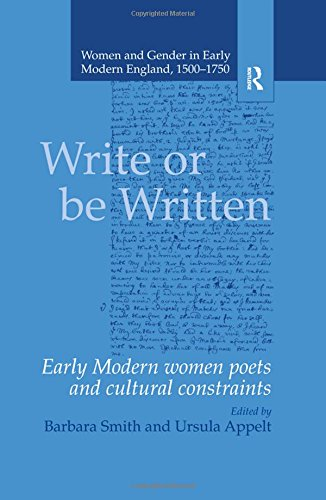 Download Write or be Written - Women and Gender in Early Modern England, 1500-1750 pdf
