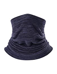 QINGLONGLIN 2 Pack Neck Warmer Gaiter, Polar Fleece Ski Face Mask Cover for Winter Cold Weather & Keep Warm