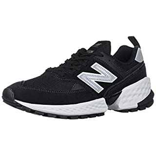 New Balance Men's 574v2 Sneaker, Black/Silver Metallic, 10.5 D US