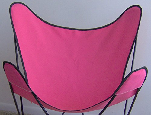 Butterfly Chair Cover - Hot Pink with Black Trim