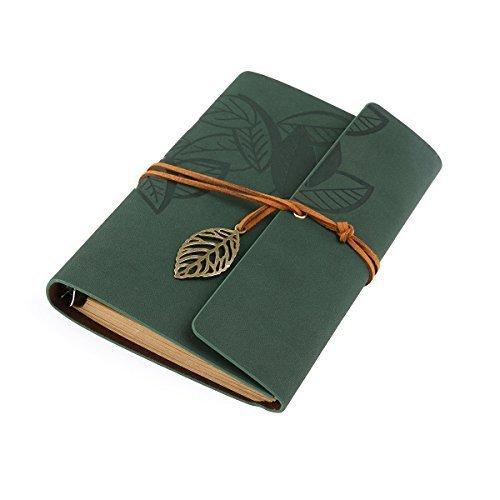 Tinksky  Musterzeichenfolge Gebunden Leeren Notebook Editor Travel Journal Tagebuch Reisetagebuch - Size L (Green)