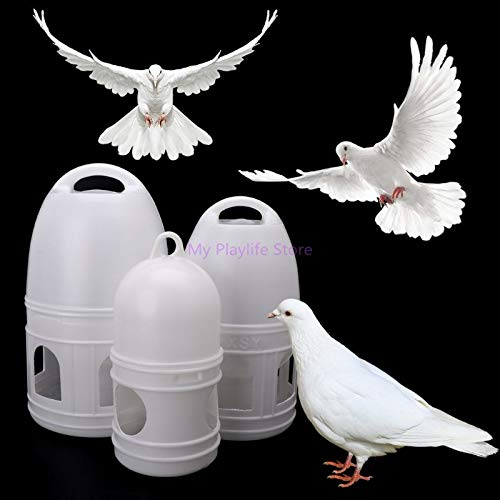 VietFA Bird Feeding - Pigeons Feeder Birds Automatic Drinker Poultry Chicken Waterer Drinking Feeding Container Water Cup Bird Supplies C42 - by GTIN - 1 Pcs