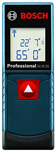 Bosch GLM 20 Compact Laser Measure with Backlit Display, 65'