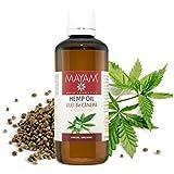 Mayam–Aceite de Semilla de Cáñamo–100% natural, Virgen, prensado en frío, puro & Orgánico–100ml